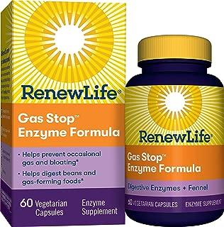 Renew Life Adult Plant-Based Enzyme Supplement - Gas Stop Enzyme Formula, Dariy Free - 60 Vegetarian Capsules (Packaging May Vary)