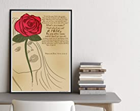 Shakespeare Romeo and Juliet. Rose Quote Literary Art Print. Educational Classroom Poster. Plain, Laminated, or Framed. Mu...