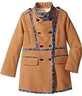 Oscar de la Renta Childrenswear Wool Drill Coat (Toddler/Little Kids/Big Kids)