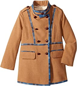 Oscar de la Renta Childrenswear - Wool Drill Coat (Toddler/Little Kids/Big Kids)