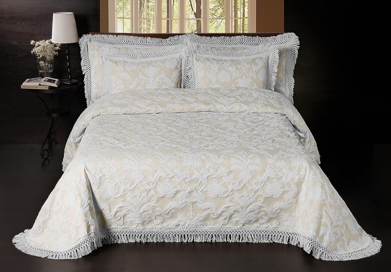 La Rochelle Sussex Park Bedspreads, California King, Ivory White