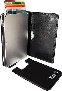 MolinQ Cartera para Tarjetas de Crédito   Tarjetero Pequeño para Hombre y Mujer   Bloqueo RFID   Incluye 1 Mini Cartera Gratis   Titular de la Tarjeta Negro