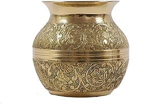 Aatm Brass Kalash Lota (Gold_3 Inch X 3 Inch X 3.5 Inch)