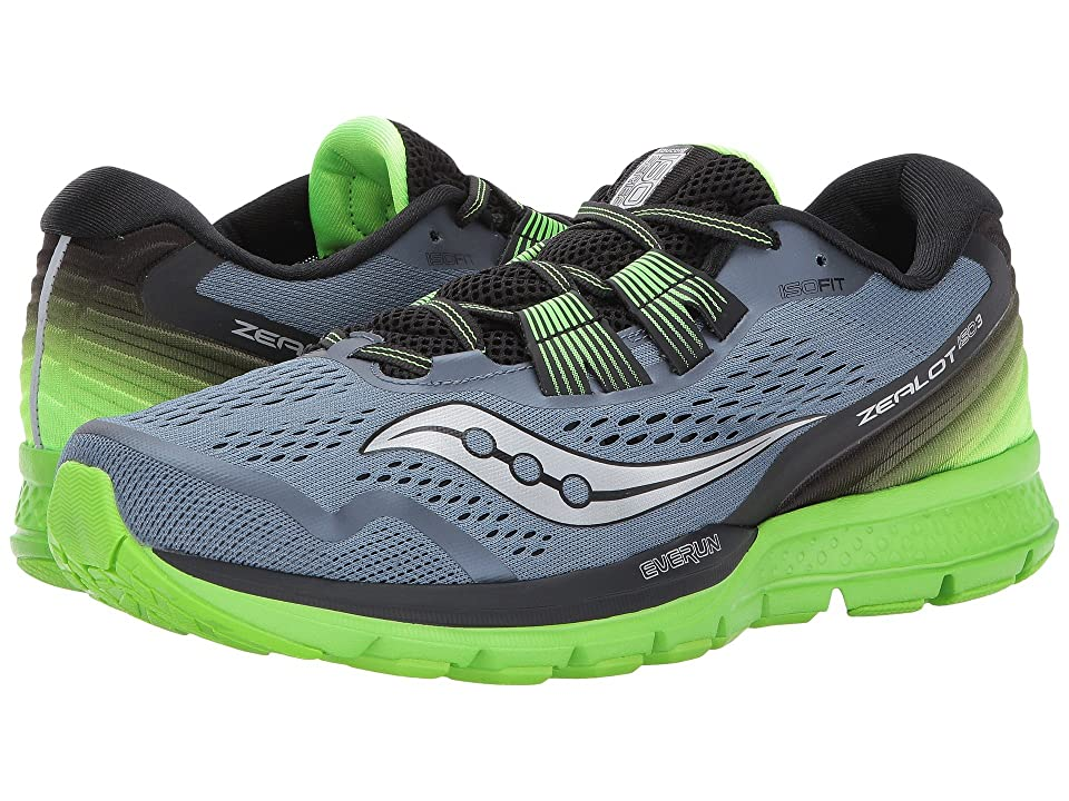 Saucony Zealot ISO 3 (Grey/Black/Slime) Men