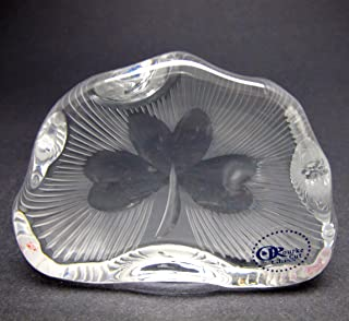 glass shamrock paperweight