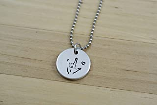 I Love You Necklace, ASL Necklace, ASL Jewelry, American Sign Language Gift, Interpreter Gift
