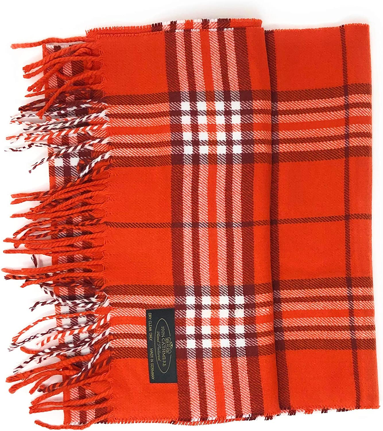 """Anny's Regular discount 100% Cashmere Ranking TOP18 Plaid Scarf Gift with Bag 12""""x72"""""""