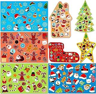 HOWAF 8 Feuilles Autocollantes Noël, Stickers Noel Autocollantes Décoratif DIY Scrapbooking Artisanat, pour Sac Cadeau Noë...