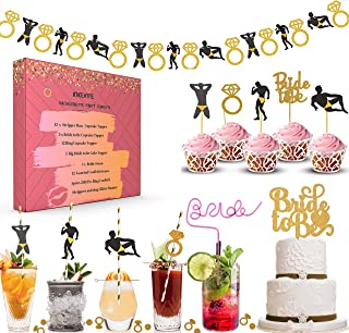 Bachelorette Party Decorations Kit I Bar Snack Table Decor I Bridal Shower Supplies Pack of 240+ Bridal shower party suppl...