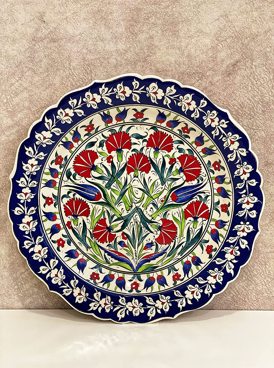 low-pricing IstanbulArtWorkshop 12'' We OFFer at cheap prices Handmade Ceramic Pla Plate Wall Turkish