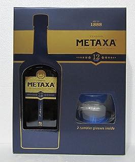 Metaxa 12 Sterne 12 Jahre alt  2 Gläser 0,7 Liter
