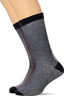 Levi's Birdseye Stripe Regular Cut Socks (2 Pack), (Lot de 2) Mixte