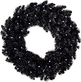 Best black feather christmas wreath Reviews