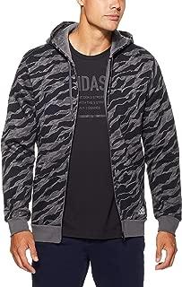 Adidas Men's Essentials AOP Full Zip Hoodied Jacket