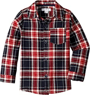 Mud Pie Mens Long Sleeve Flannel Button Down Shirt (Infant/Toddler)