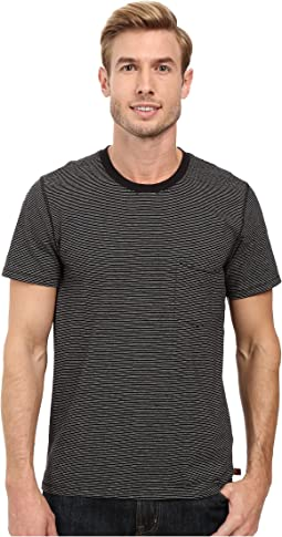 Short Sleeve Stripe Ringer Tee