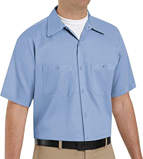 Red Kap Men's Standard Short Sleeve Wrinkle-Resistant Cotton WorkShirt