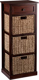 Southern Enterprises Kenton 3-Basket Storage Tower, Brown