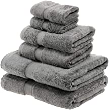 Superior 900GSM 6 PC CL Towel Set, 6PC, Charcoal