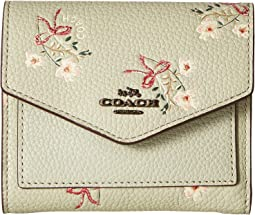 COACH - Small Wallet With Floral Bow Print