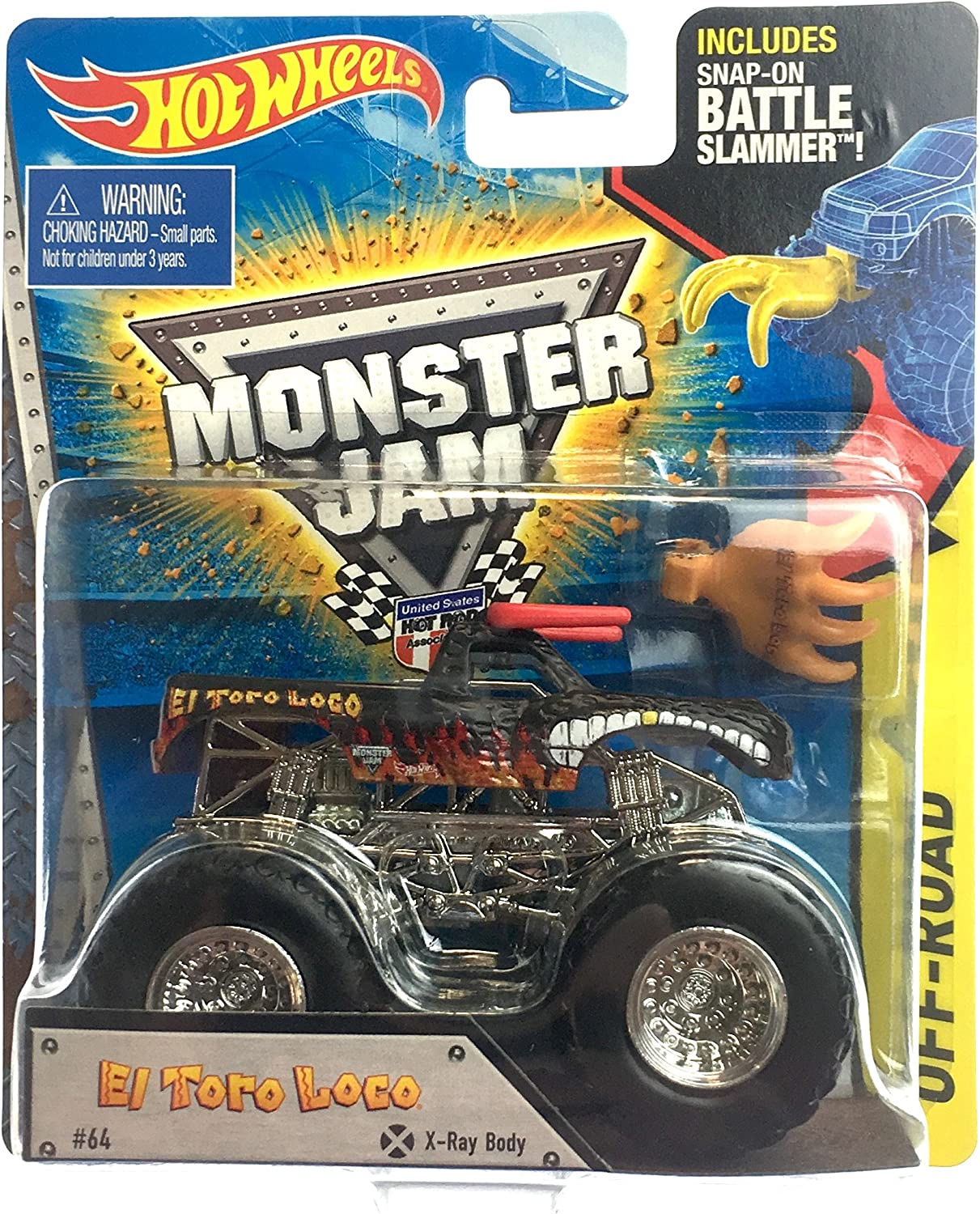 HOT WHEELS MONSTER JAM 1 64 SCALE EL Tgold LOCO MONSTER TRUCK INCLUDES TOPPS TRADING CARD, GRAVE DIGGER 30TH ANNIVERSARY