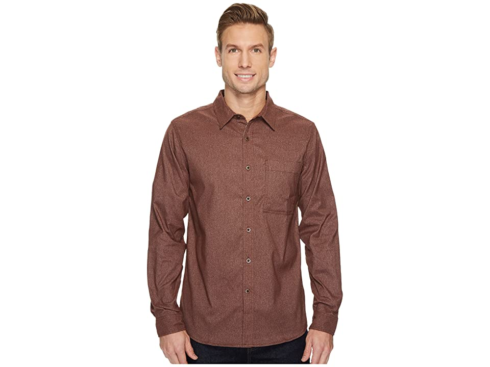 Royal Robbins Skyline Stretch Performance Flannel Long Sleeve Shirt (Raisin) Men