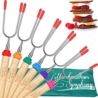 Carpathen Campfire Roasting Sticks for Marshmallow and...
