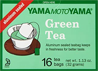 Yamamotoyama Green Tea Bags, 1.13-Ounce (Pack of 6)