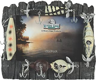 Rivers Edge Fishing Lure Picture Frame - Holds 4