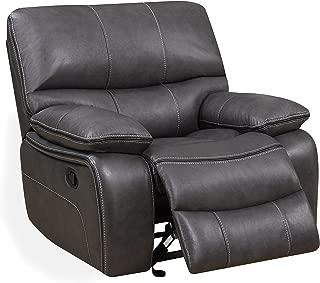 Global Furniture Glider Recliner, Grey/Black