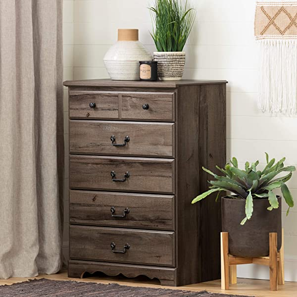 South Shore 11919 Prairie 5 Drawer Chest Fall Oak