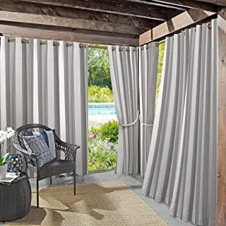"Best Sun Zero 53089 Valencia UV Protectant Indoor Outdoor Curtain Panel, 54"" x 108"", Gray Review"