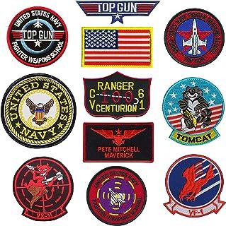 TOP Gun Patch United Sates Navy Fighter Weapons School, American Flag, CV-61 USS Ranger 100 Centurion, Tom Cat, Pete Mitch...