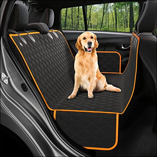 Dog Back Seat Cover Protector Waterproof Scratchproof Nonslip Hammock for Dogs Backseat Protection Against Dirt and P...