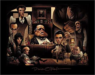 David O'keefe Prints LaFamiglia. A Tribute to The Godfather Poster 11