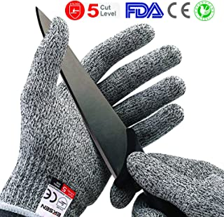 Cut Resistant Gloves, Safety Kitchen Cuts Gloves Food Grade with Level 5 Protection for Oyster Shucking, Fish Fillet Processing, Meat Cutting, Etc - Medium