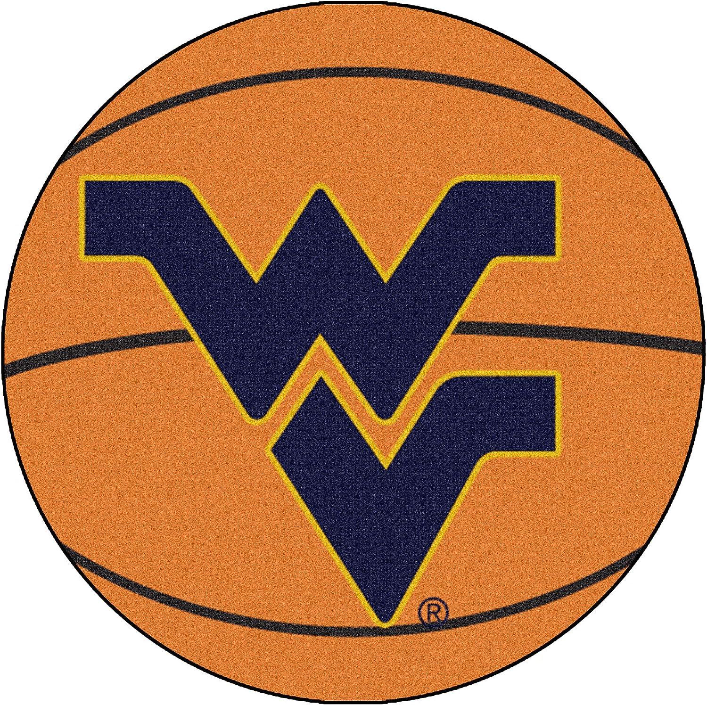 FANMATS NCAA West Virginia University Mountaineers Nylon Face Basketball Rug