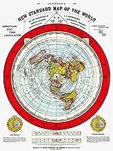Flat Earth Map - Gleason's Standard Map of The World - Medium 18