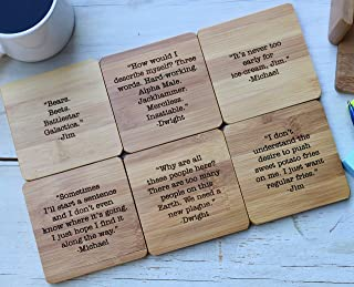 Funny The Office Show Sayings Coasters