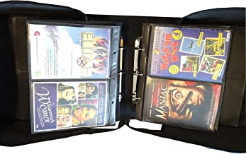 MegaDisc 240 DVD Album Black Nylon Fabric with Removable Sleeves Hold 120 Titles