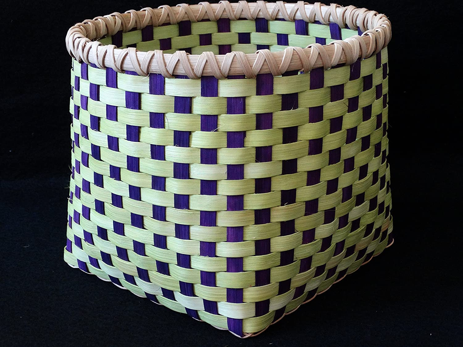 Hand Woven Basket in Chartreuse Lime S Overseas parallel import regular item Directly managed store Large Green Purple. and