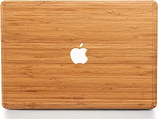 WOODWE Real Wood MacBook Skin for Mac Pro 15 inch Non Retina Display | with CD Drive; Model: A1286; Late 2008 – Mid 2012 | Natural Bamboo | TOP ONLY
