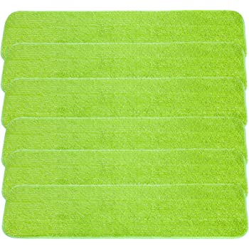 LTWHOME 24 Microfiber Commercial Mop Refill Pads in Blue Fit for Wet or Dry Floor Cleaning Pack of 6
