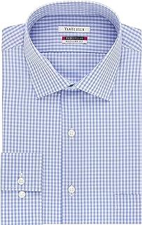 Men's Dress Shirt Regular Fit Flex Collar Check
