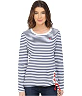 U.S. POLO ASSN. - French Terry Striped Pullover