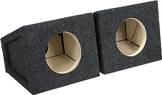 "Set of Two Black w// Speaker Terminal Absolute SQ6.5PKB 6.5/"" Square Box Speakers"