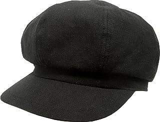 [ろしなんて工房] 帽子 キャスケット SP456 ブラックヘリンボン408 大きいサイズOK [日本製]