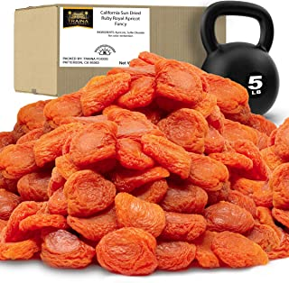 Traina Home Grown California Sun Dried Fancy Ruby Royal Apricots - No Sugar Added, Non GMO, Gluten Free, Ko...