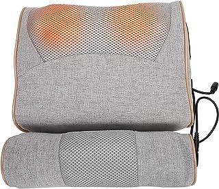 Yctze Almohada de Masaje para el Cuello, Almohada eléctrica de compresión en Caliente de ajenjo, masajeador de Hombros y Cuello Shiatsu con Calor para el Cuidado del Cuello(Enchufe DE LA UE)