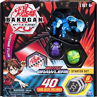 Bakugan, Battle Brawlers Starter Set Transforming Creatures, Aquos Garganoid, for Ages 6 and Up
